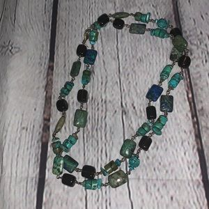 Silpada turquoise and Smoky Quartz Necklace N1647